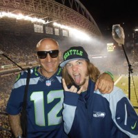 Kenny Aronoff with Seahawks Blue Thunder
