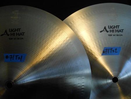 Elvin Jones' Zildjian Light hi Hat cymbals