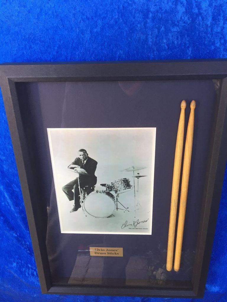 Elvin Jones S Used Gretsch 1970s 6a Drum Sticks Framed