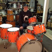 Bun E. Carlos, Cheap Trick, Ludwig orange diamond