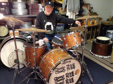 Bun E. Carlos, Cheap Trick, Ludwig Bun E. Carlos signature model set and snare #2.