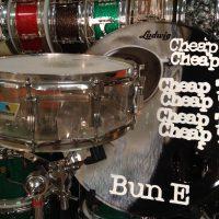 Bun E. Carlos's Cheap trick Ludwig Clear Vistalite