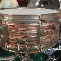 Cheap Trick, Bun E. Carlos, Ludwig Pink Oyster Jazz festival snare drum