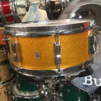 Cheap Trick, Bun E. Carlos, Ludwig Gold Sparkle Jazz festival snare drum