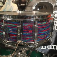 Bun E. Carlos's Psychedelic Red Ludwig Jazz festival snare drum