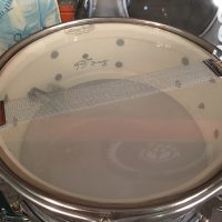 Cheap Trick, Bun E. Carlos, Ludwig Blue Oyster pearl Jazz festival snare drum