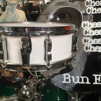 Cheap Trick, Bun E. Carlos, Ludwig Psychedelic red jazz festival snare