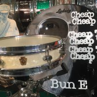 Cheap Trick, Bun E. Carlos, WFL Buddy Rich model piccolo, white marine pearl