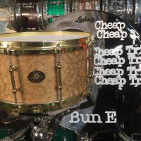 Bun E. Carlos's Cheap Trick Ludwig Prototype Carpethian Elm