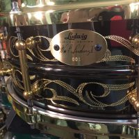 Bun E. Carlos's Cheap Trick Ludwig 95th Anniversary Engraved black Beauty