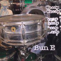Bun E. Carlos's first Cheap Trick Snare drum