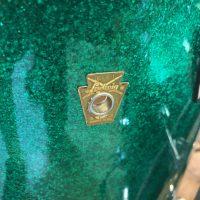 Bun E. Carlos Cheap Trick Signed Ludwig Legacy Green Sparkle