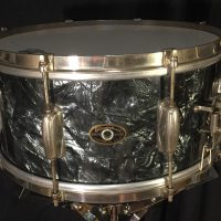 Slingerland Black Diamond Nickel 6.5x14 3 point clip snare
