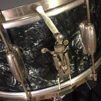 Slingerland Black Diamond Nickel 6.5x14 3 point clip snare
