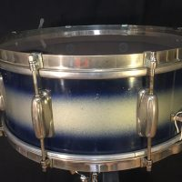 Slingerland 1950s 8 Lug Blue-Silver Duco Snare