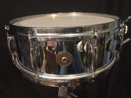Gretsch Chrome Round Badge 5x14