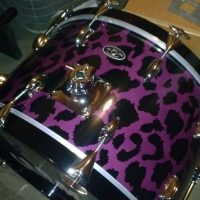 Carmine Appice Slingerland radio King Purple Leopard 9 Piece Drum Set