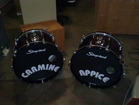 Carmine Appice Slingerland radio King Purple Leopard 9 Piece Drum Set