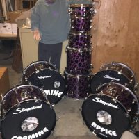 Carmine Purple leopard Slingerland radio king