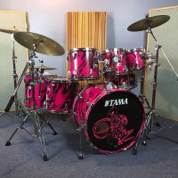 Aerosmith Joey Kramer Tama Crestar Permanent Vacation Drum Set
