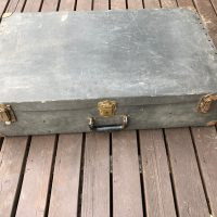 Leedy 1940s brass timbales with case and stand