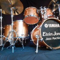 Elvin Jones Jazz Machine Logo Head White text