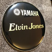 Elvin Jones Logo Bass drum head 18""