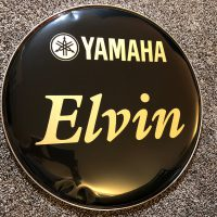 "Elvin 18"" bass logo head"