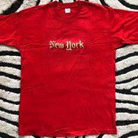 Elvin Jones New York Gold on Red T-shirt