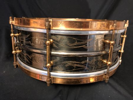 Ludwig 1930s Engraved Black Beauty 5x14