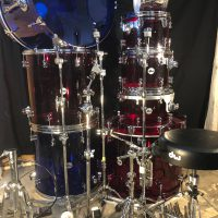 Zak Starkey's Quadrophinia Tour DW Clear Drum Set Zildjian Cymbals