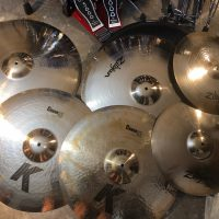 Zak Starkey's Quadrophinia Tour DW Clear Drum Set Zildjian Cymbals