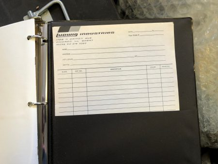 Ludwig 1970s Sales Rep Binder. Complete! Perfect! $395.00
