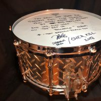 "Jason Bittner's Shadows Fall 2002 OCP ""Diamond Plate"" 7x14 Snare Drum"