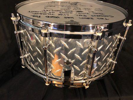 "Jason Bittner's Shadows Fall 2002 OCP ""Diamond Plate"" 7x14 Snare Drum"