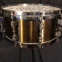 "Jason Bittners Shadows fall Tama Warlord Collection Praetorian 6x14"" Cast Bell Brass Snare Drum"
