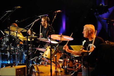 Gregg Bissonette and Ringo Starr