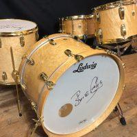 Bun E. Carlos Burl Maple, Brass hardware Legacy Ludwig