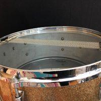 Gretsch 6 lug Champagne Sparkle complete snare set.
