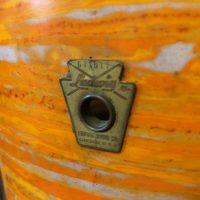 "Ludwig Keystone Badge 1960s Mod Orange 12x8"" Tom"