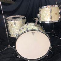 Ludwig 1960s 22,13,16 White Marine Pearl