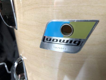 "Ludwig 12""x8"" Maple Cortex 3 ply blue olive B/O badge"