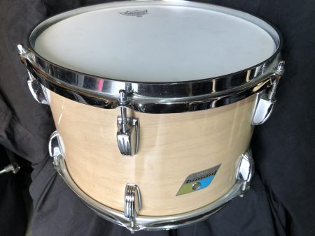 "Ludwig 12""x8"" Maple Cortex 3 ply blue olive B/O badge"