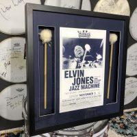 Elvin Jones's Mallets Framed With Concert Poster, $1,395.00
