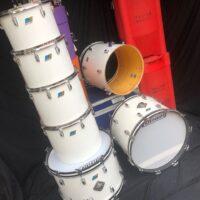 Banali White Ludwig Concert toms set